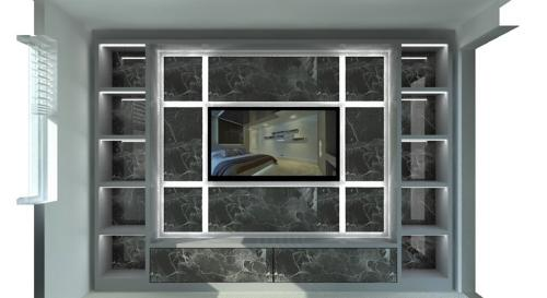 Luxury showroom lounge TV unit HD